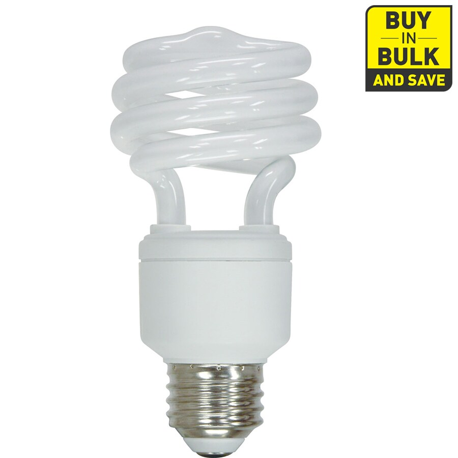Utilitech 6-Pack 20-Watt (75W Equivalent) 2,700K Spiral Medium Base (E-26) Soft White CFL Bulb ENERGY STAR