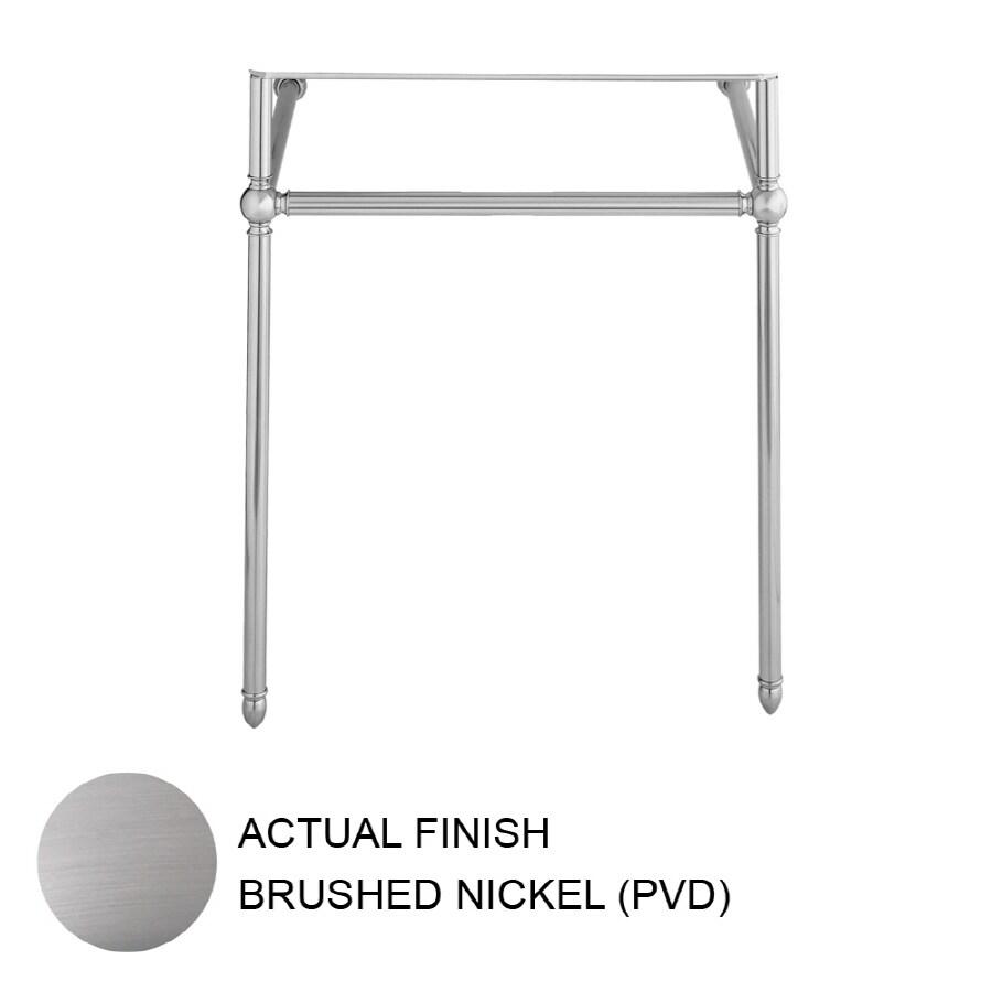 Porcher 27.75-in H Brushed Nickel Iron Pedestal Sink Base