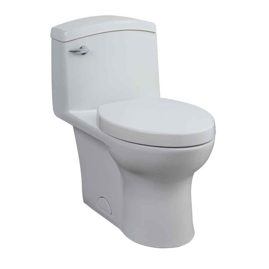 Porcher Veneto White 1.6-GPF/6.06-LPF 12-in Rough-in Elongated 1-Piece Standard Height Toilet
