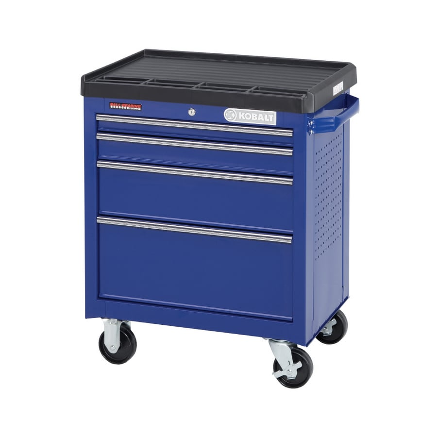 Kobalt 4-Drawer 28-in Steel Tool Cabinet (Blue)