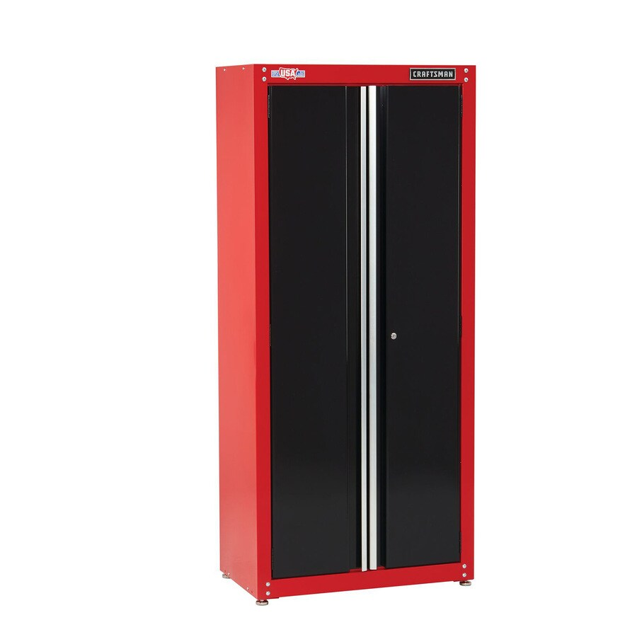 Craftsman 2000 Series 32 In W X 74 H 18 D Steel Freestanding Garage Cabinet The Cabinets Department At Lowes Com