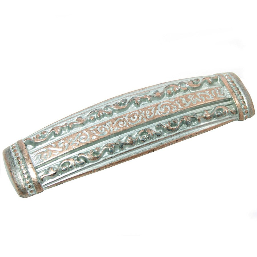 Laurey 3-in Center-to-Center Weathered Copper Nickel Rectangular Cabinet Pull