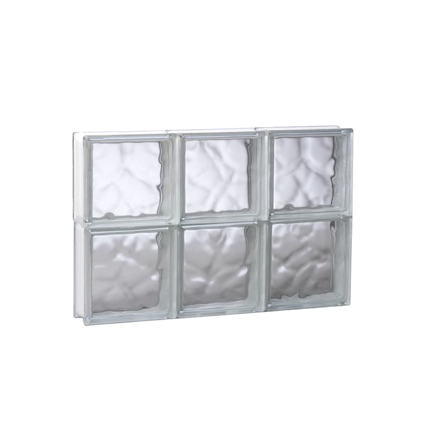 REDI2SET Wavy Glass Pattern Frameless Replacement Glass Block Window (Rough Opening: 17.75-in x 12-in; Actual: 17.25-in x 11.5-in)