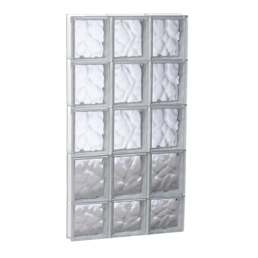 REDI2SET Wavy Glass Pattern Frameless Replacement Glass Block Window (Rough Opening: 17.75-in x 37.25-in; Actual: 17.25-in x 36.75-in)