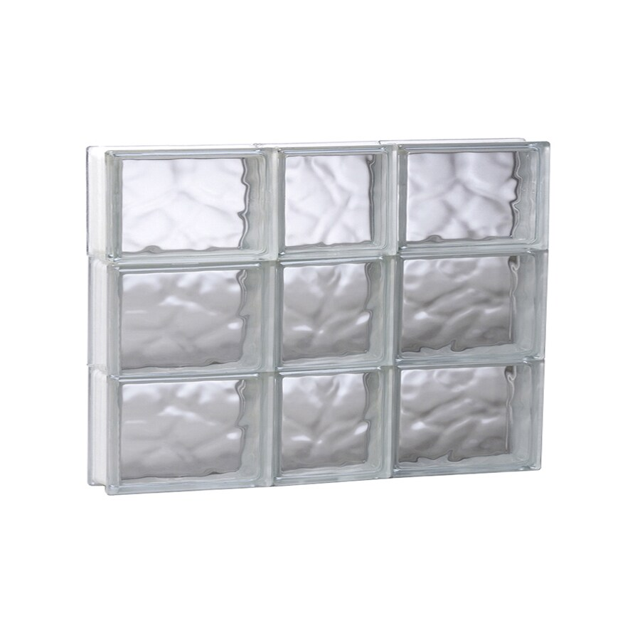 REDI2SET Wavy Glass Pattern Frameless Replacement Glass Block Window (Rough Opening: 21.75-in x 17.75-in; Actual: 21.25-in x 17.25-in)