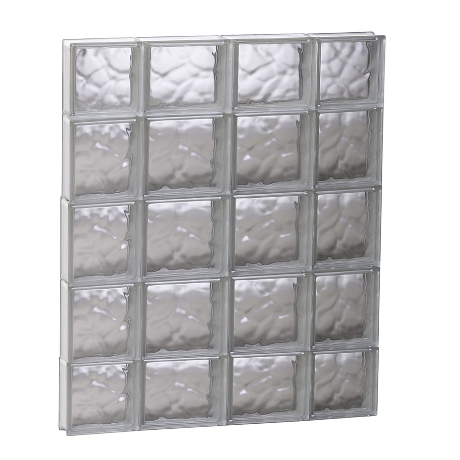 REDI2SET Wavy Glass Pattern Frameless Replacement Glass Block Window (Rough Opening: 27.5-in x 35.25-in; Actual: 27-in x 34.75-in)
