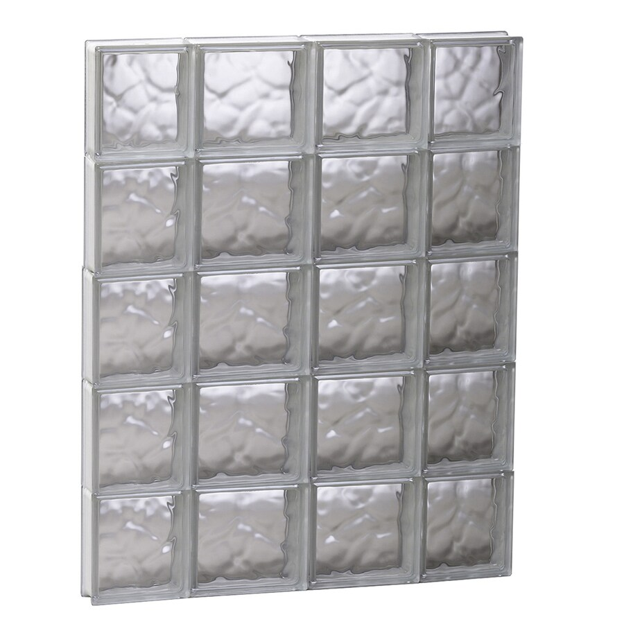 REDI2SET Wavy Glass Pattern Frameless Replacement Glass Block Window (Rough Opening: 27.5-in x 39.25-in; Actual: 27-in x 38.75-in)