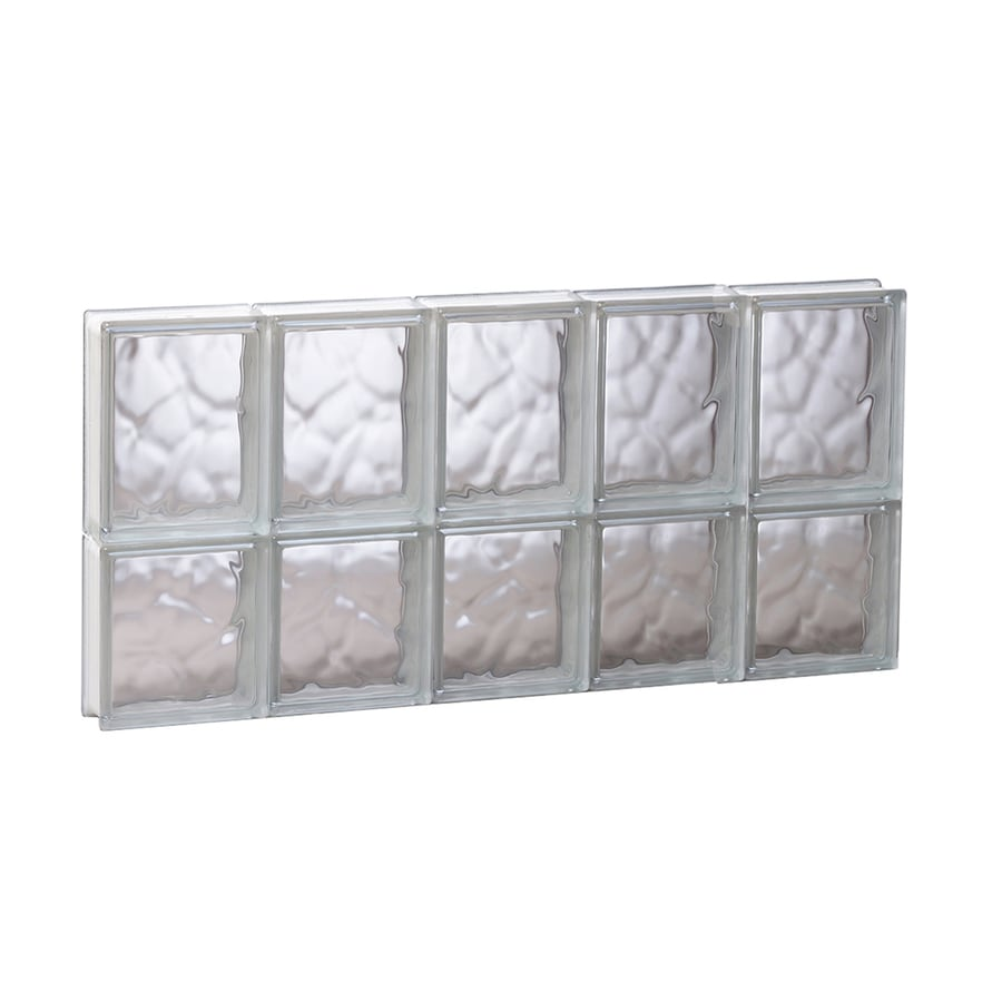 REDI2SET Wavy Glass Pattern Frameless Replacement Glass Block Window (Rough Opening: 29.25-in x 14-in; Actual: 28.75-in x 13.5-in)