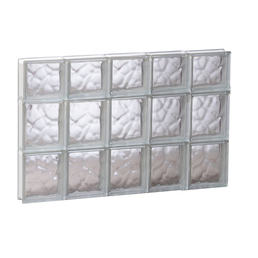 REDI2SET Wavy Glass Pattern Frameless Replacement Glass Block Window (Rough Opening: 29.25-in x 21.75-in; Actual: 28.75-in x 21.25-in)