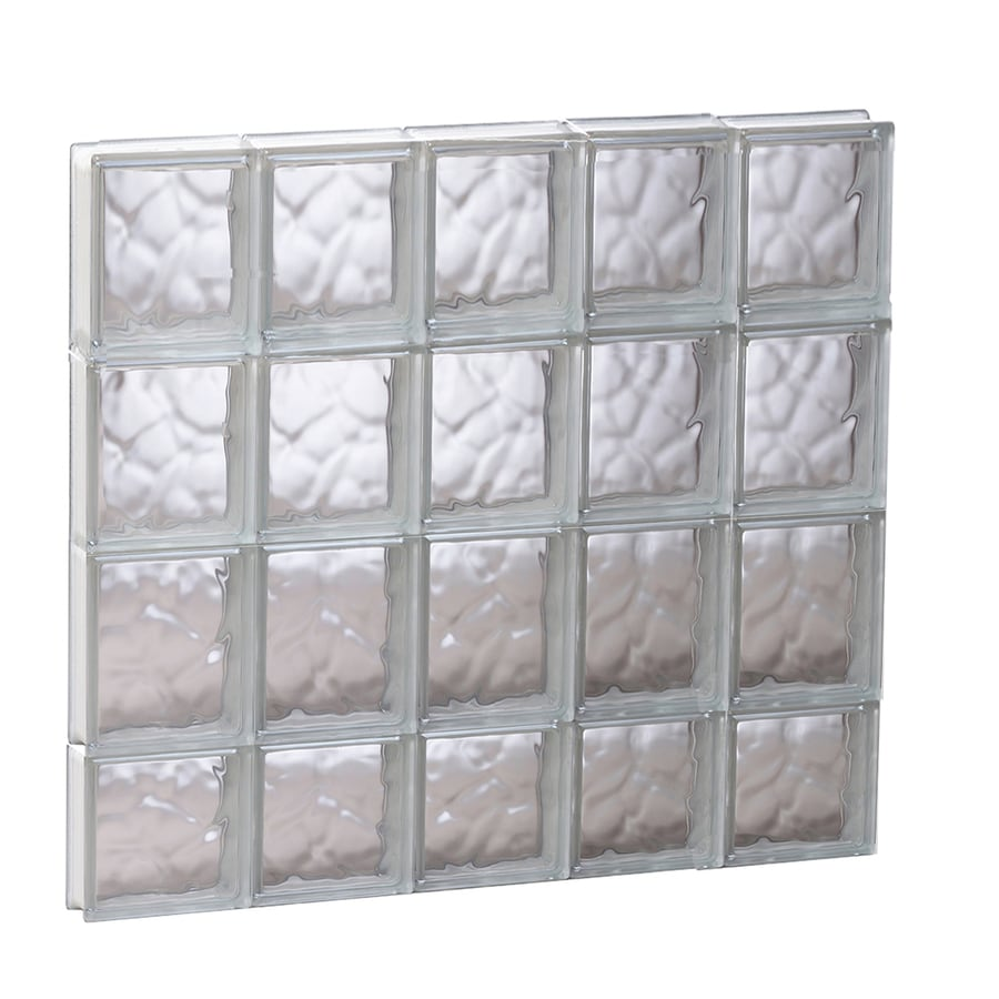 REDI2SET Wavy Glass Pattern Frameless Replacement Glass Block Window (Rough Opening: 29.25-in x 29.5-in; Actual: 28.75-in x 29-in)