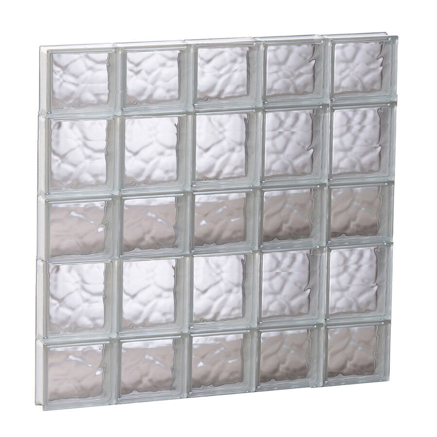 REDI2SET Wavy Glass Pattern Frameless Replacement Glass Block Window (Rough Opening: 29.25-in x 33.25-in; Actual: 28.75-in x 32.75-in)