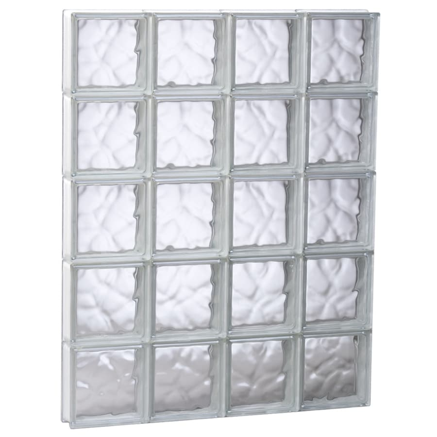 REDI2SET Wavy Glass Pattern Frameless Replacement Glass Block Window (Rough Opening: 29.25-in x 35.25-in; Actual: 28.75-in x 34.75-in)