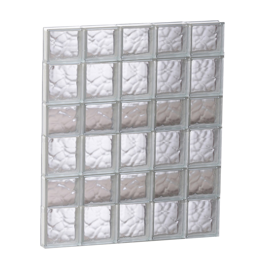 REDI2SET Wavy Glass Pattern Frameless Replacement Glass Block Window (Rough Opening: 29.25-in x 41-in; Actual: 28.75-in x 40.5-in)