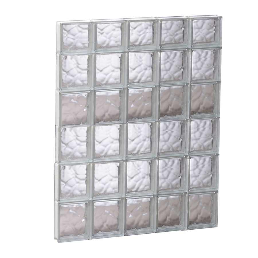 REDI2SET Wavy Glass Pattern Frameless Replacement Glass Block Window (Rough Opening: 29.25-in x 45-in; Actual: 28.75-in x 44.5-in)
