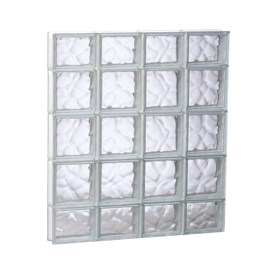 REDI2SET Wavy Glass Pattern Frameless Replacement Glass Block Window (Rough Opening: 31.5-in x 35.25-in; Actual: 31-in x 34.75-in)