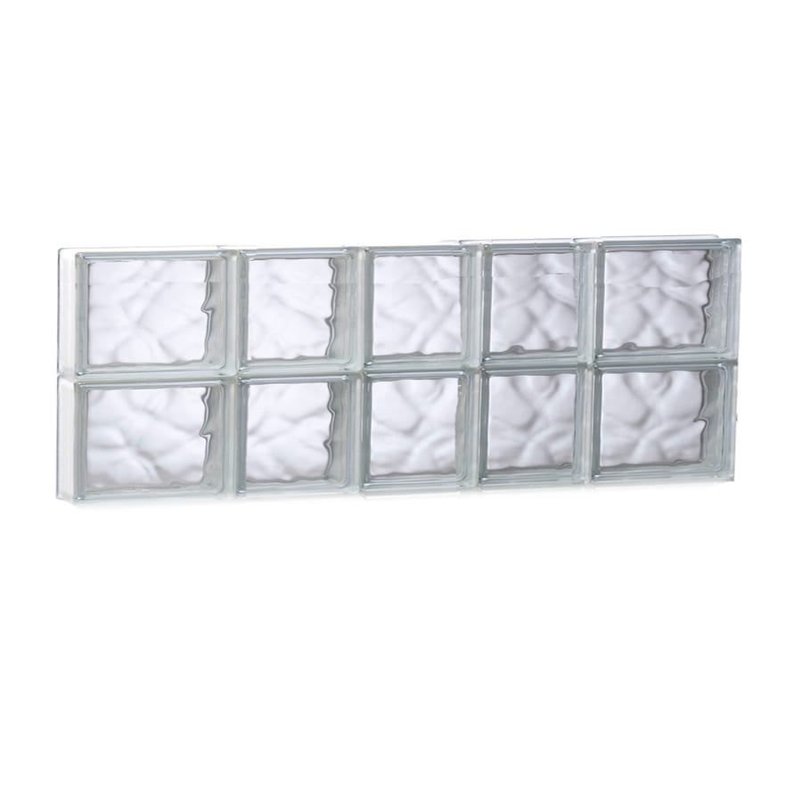 REDI2SET Wavy Glass Pattern Frameless Replacement Glass Block Window (Rough Opening: 33.25-in x 12-in; Actual: 32.75-in x 11.5-in)