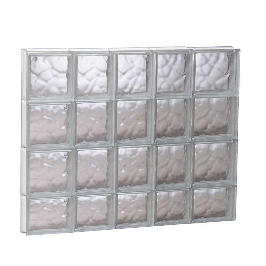 REDI2SET Wavy Glass Pattern Frameless Replacement Glass Block Window (Rough Opening: 33.25-in x 29.5-in; Actual: 32.75-in x 29-in)