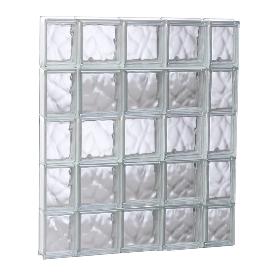 REDI2SET Wavy Glass Pattern Frameless Replacement Glass Block Window (Rough Opening: 35.25-in x 39.25-in; Actual: 34.75-in x 38.75-in)