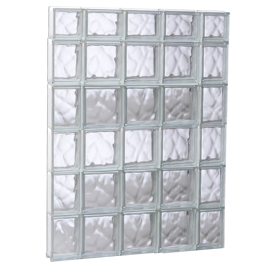 REDI2SET Wavy Glass Pattern Frameless Replacement Glass Block Window (Rough Opening: 35.25-in x 45-in; Actual: 34.75-in x 44.5-in)