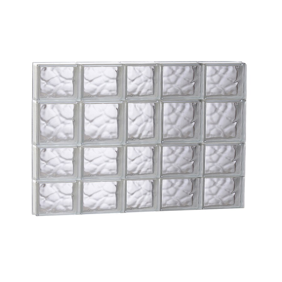 Shop redi2set wavy glass pattern frameless replacement for Glass block window sizes