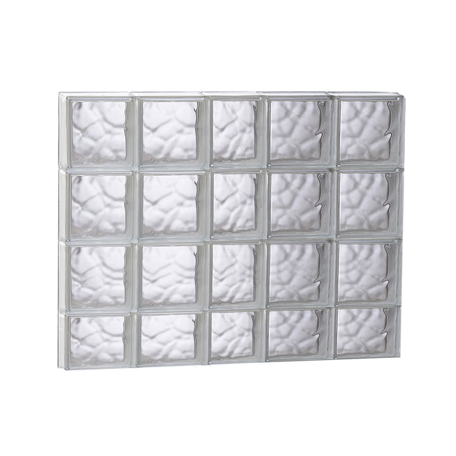 REDI2SET Wavy Glass Pattern Frameless Replacement Glass Block Window (Rough Opening: 37.25-in x 29.5-in; Actual: 36.75-in x 29-in)