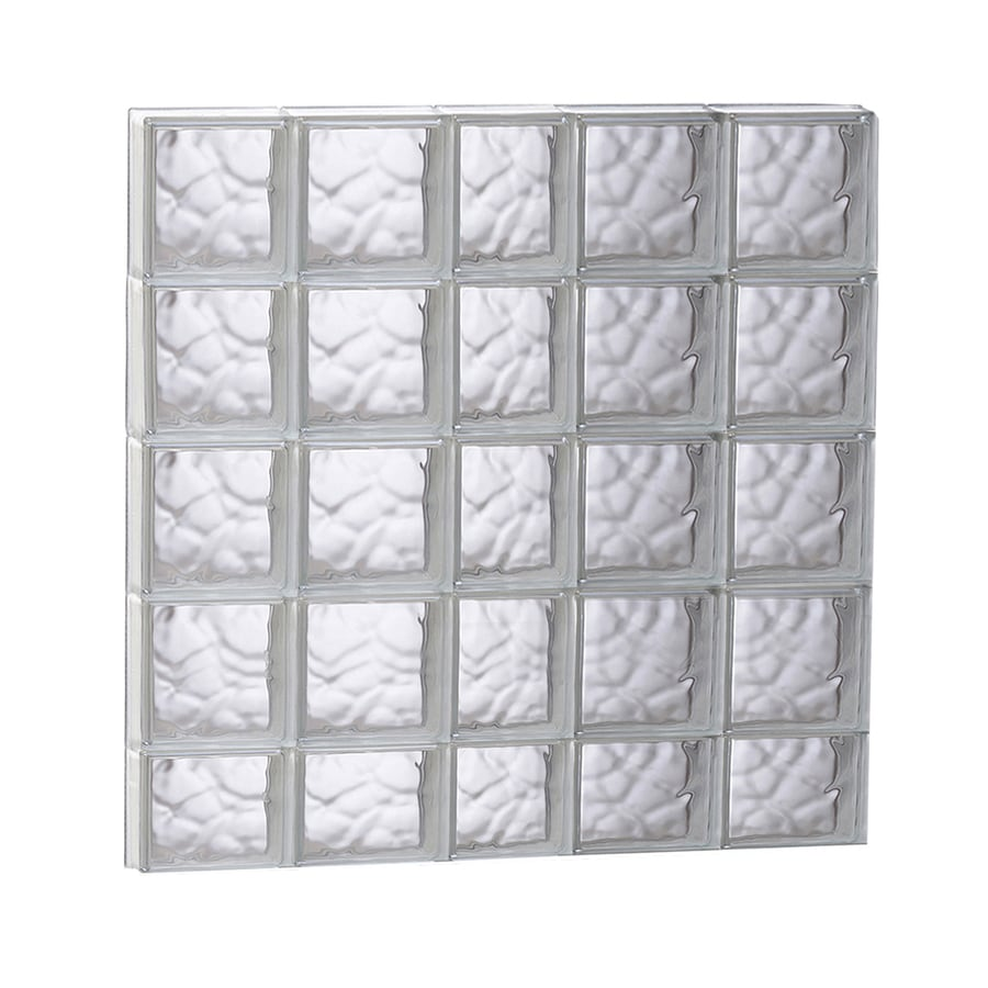 REDI2SET Wavy Glass Pattern Frameless Replacement Glass Block Window (Rough Opening: 37.25-in x 37.25-in; Actual: 36.75-in x 36.75-in)