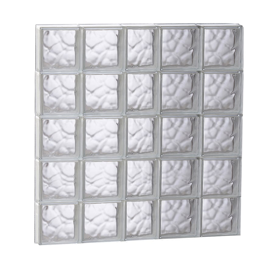 REDI2SET Wavy Glass Pattern Frameless Replacement Glass Block Window (Rough Opening: 37.25-in x 39.25-in; Actual: 36.75-in x 38.75-in)