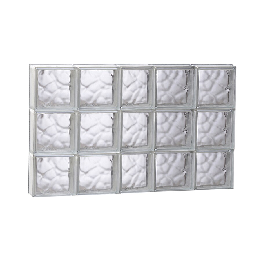 REDI2SET Wavy Glass Pattern Frameless Replacement Glass Block Window (Rough Opening: 37.25-in x 41-in; Actual: 36.75-in x 40.5-in)