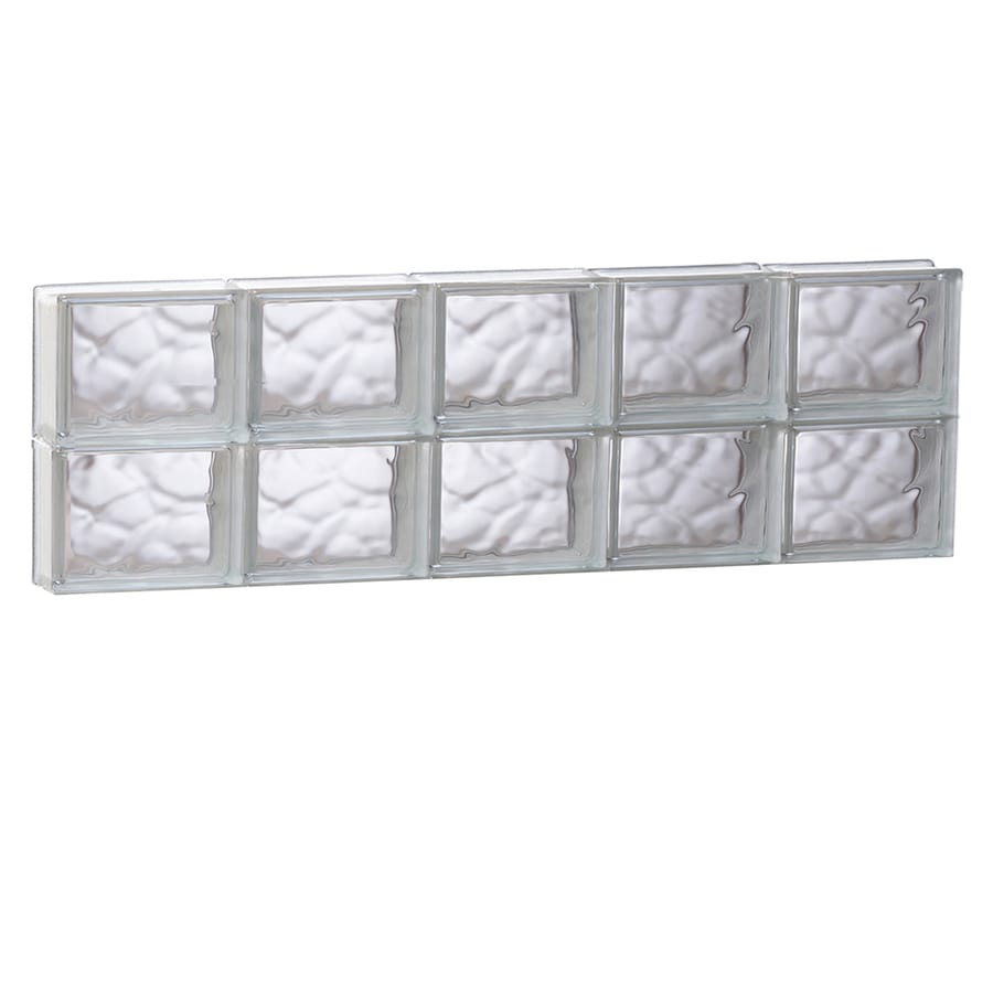 REDI2SET Wavy Glass Pattern Frameless Replacement Glass Block Window (Rough Opening: 39.25-in x 12-in; Actual: 38.75-in x 11.5-in)