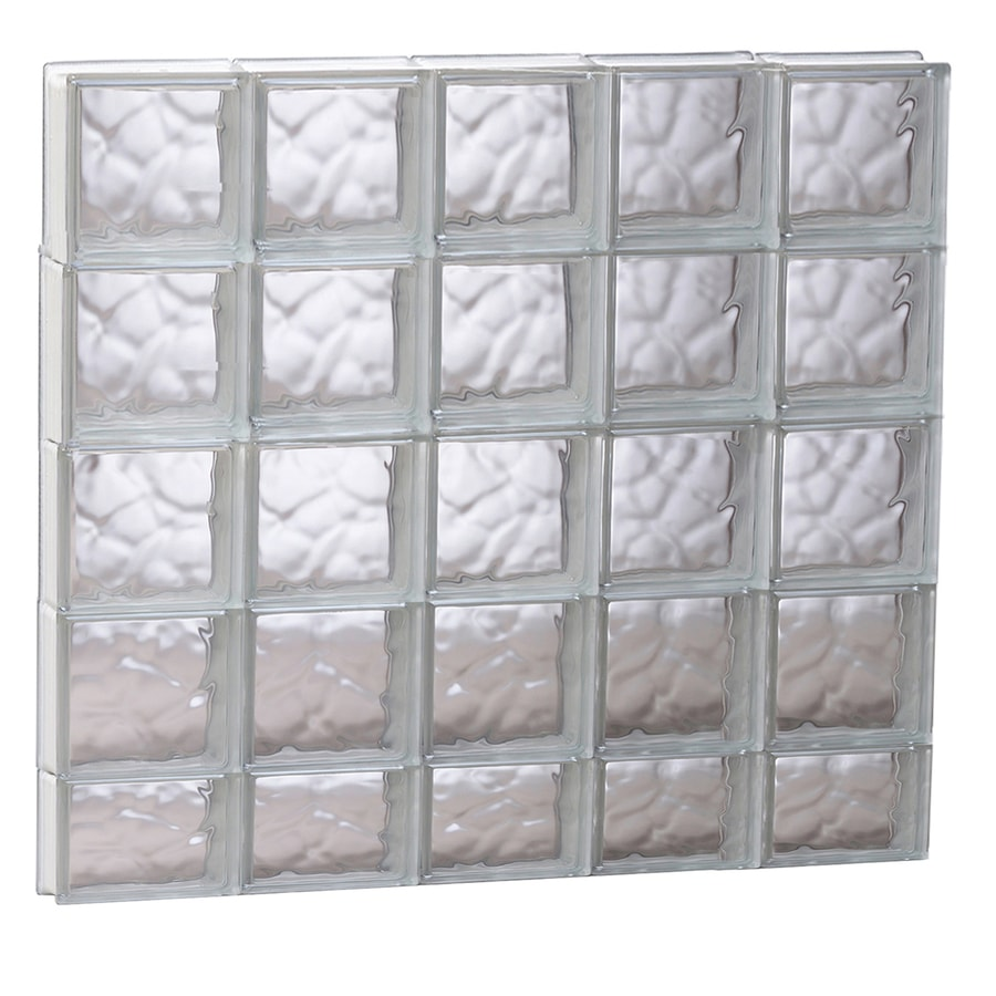 REDI2SET Wavy Glass Pattern Frameless Replacement Glass Block Window (Rough Opening: 39.25-in x 37.25-in; Actual: 38.75-in x 36.75-in)