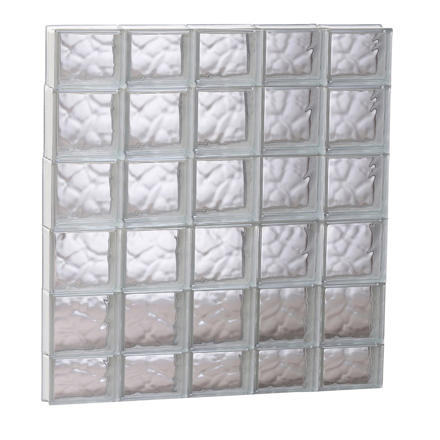 REDI2SET Wavy Glass Pattern Frameless Replacement Glass Block Window (Rough Opening: 39.25-in x 43-in; Actual: 38.75-in x 42.5-in)