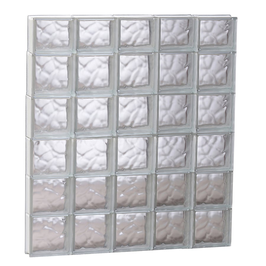 REDI2SET Wavy Glass Pattern Frameless Replacement Glass Block Window (Rough Opening: 39.25-in x 45-in; Actual: 38.75-in x 44.5-in)