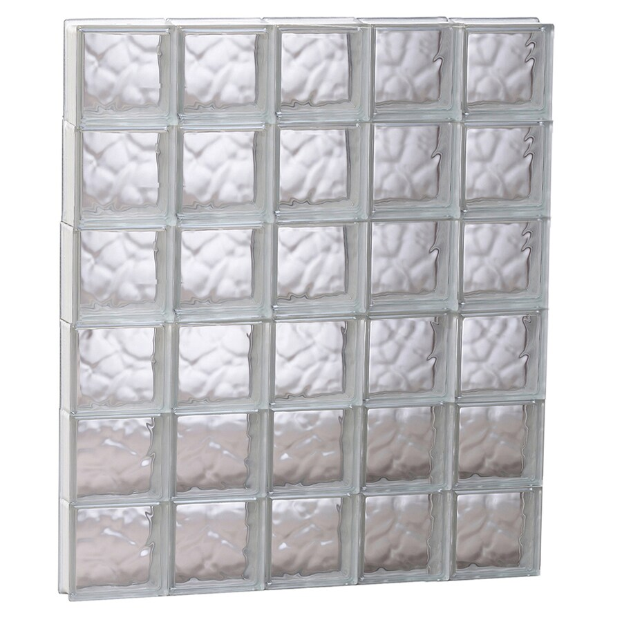 REDI2SET Wavy Glass Pattern Frameless Replacement Glass Block Window (Rough Opening: 39.25-in x 47-in; Actual: 38.75-in x 46.5-in)