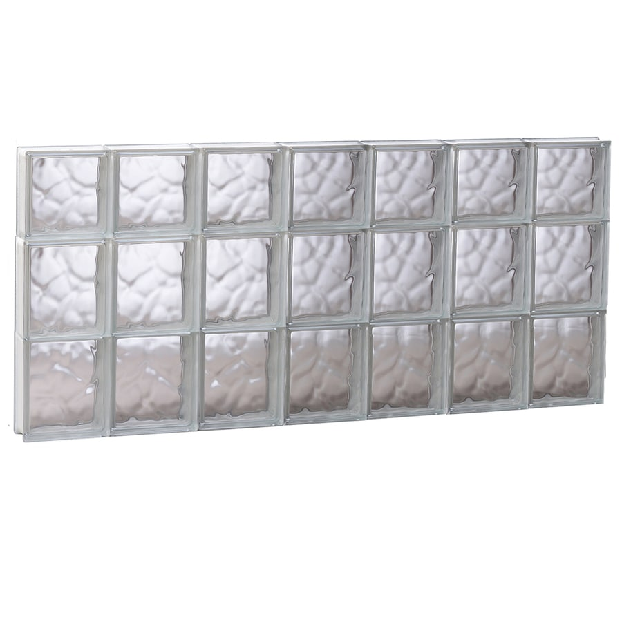 REDI2SET Wavy Glass Pattern Frameless Replacement Glass Block Window (Rough Opening: 40.62-in x 21.75-in; Actual: 40.12-in x 21.25-in)