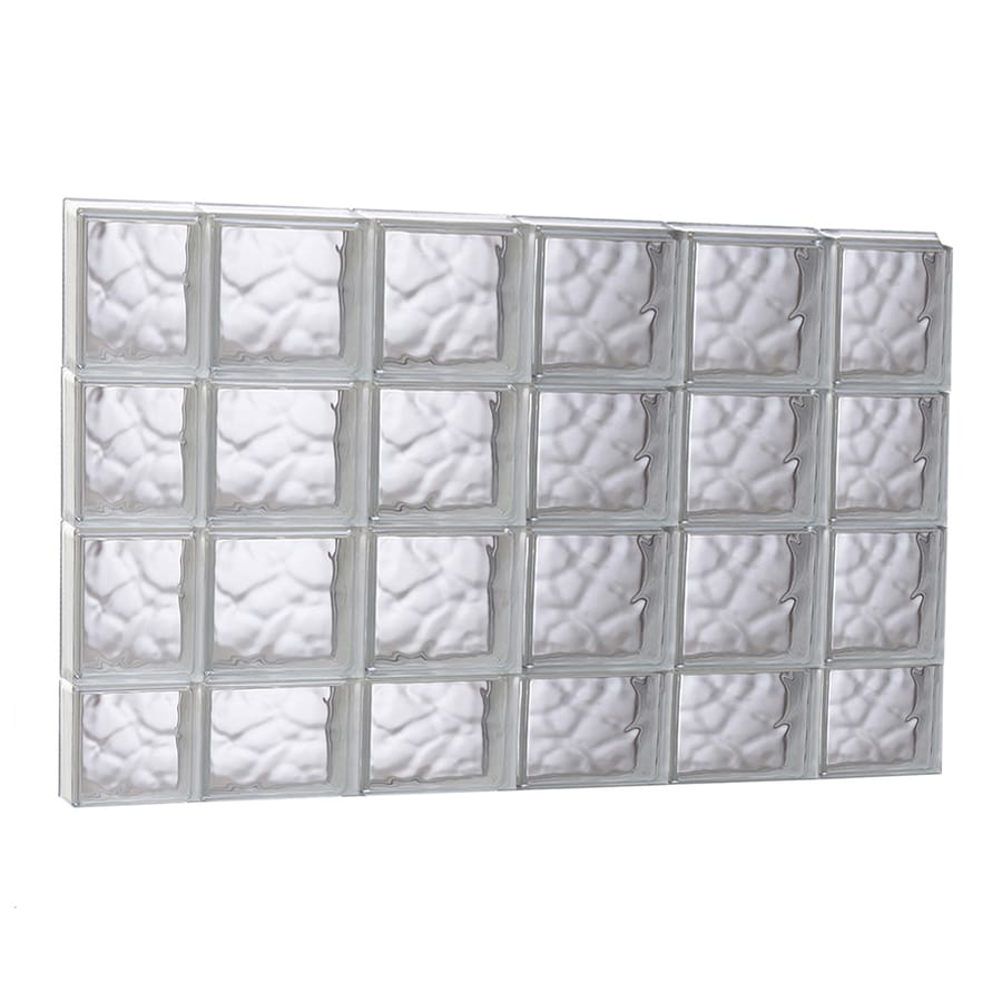 REDI2SET Wavy Glass Pattern Frameless Replacement Glass Block Window (Rough Opening: 43-in x 29.5-in; Actual: 42.5-in x 29-in)