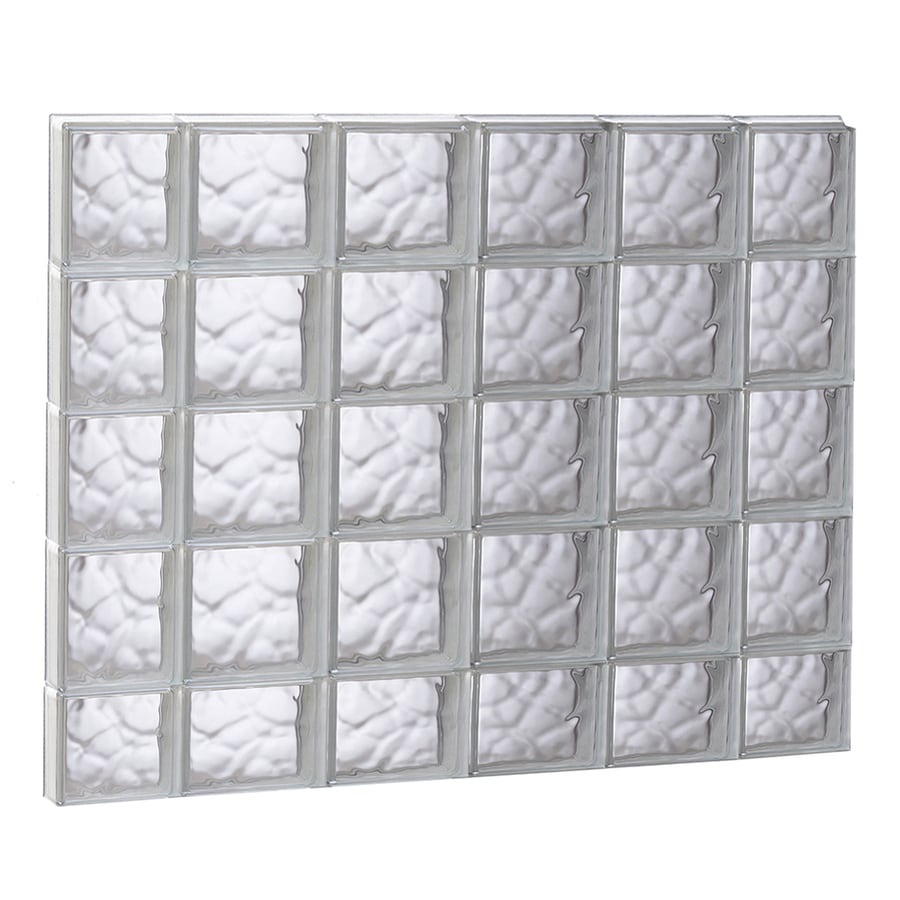 REDI2SET Wavy Glass Pattern Frameless Replacement Glass Block Window (Rough Opening: 43-in x 37.25-in; Actual: 42.5-in x 36.75-in)