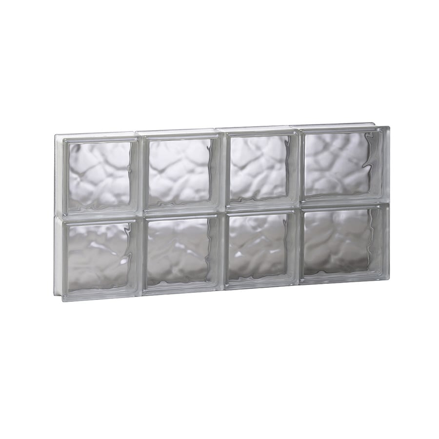REDI2SET Wavy Glass Pattern Frameless Replacement Glass Block Window (Rough Opening: 26-in x 12-in; Actual: 25-in x 11.5-in)