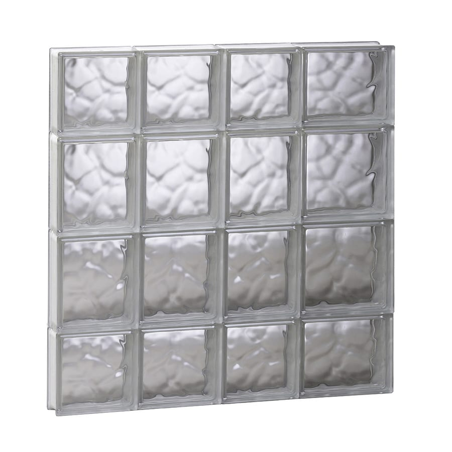 REDI2SET Wavy Glass Pattern Frameless Replacement Glass Block Window (Rough Opening: 26-in x 28-in; Actual: 25-in x 27-in)