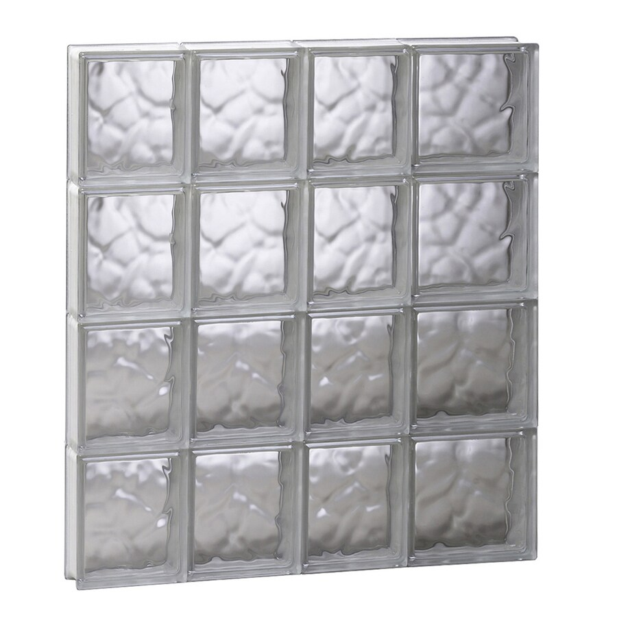 REDI2SET Wavy Glass Pattern Frameless Replacement Glass Block Window (Rough Opening: 26-in x 32-in; Actual: 25-in x 31-in)
