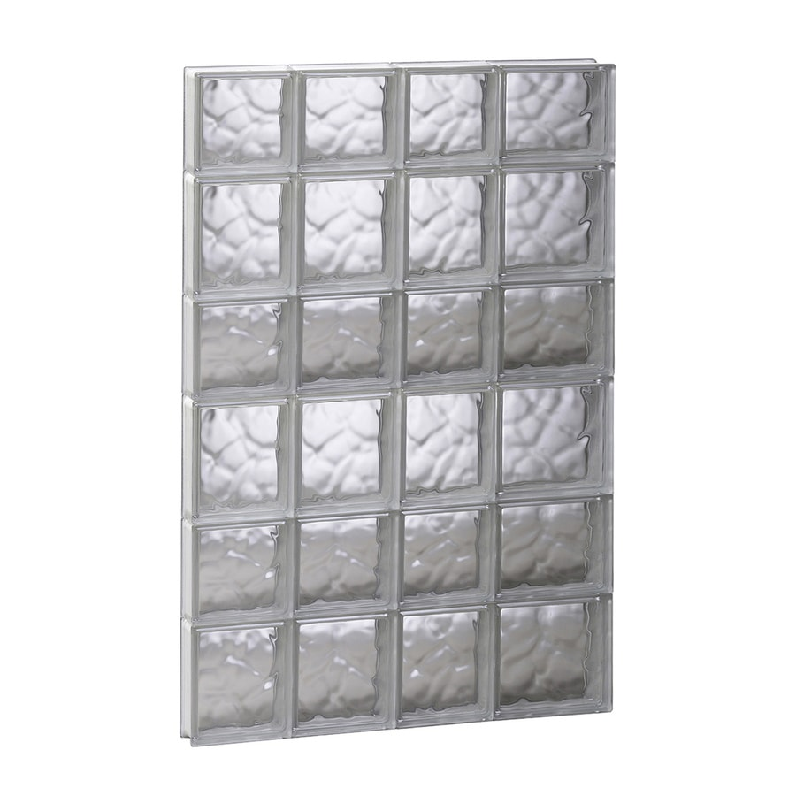 REDI2SET Wavy Glass Pattern Frameless Replacement Glass Block Window (Rough Opening: 26-in x 42-in; Actual: 25-in x 40.5-in)
