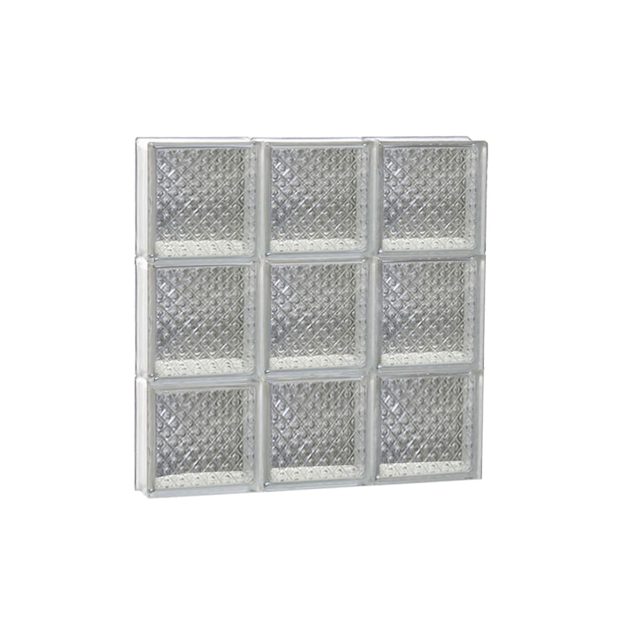 REDI2SET Diamond Glass Pattern Frameless Replacement Glass Block Window (Rough Opening: 18-in x 18-in; Actual: 17.25-in x 17.25-in)