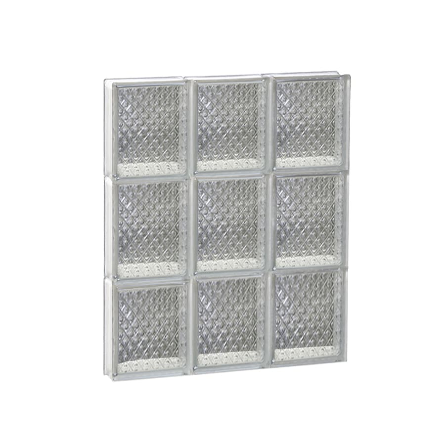 REDI2SET Diamond Glass Pattern Frameless Replacement Glass Block Window (Rough Opening: 18-in x 24-in; Actual: 17.25-in x 23.25-in)