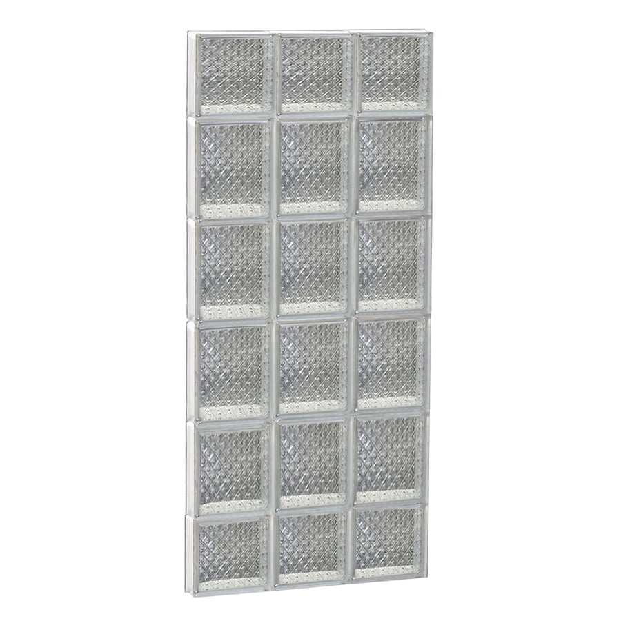 REDI2SET Diamond Glass Pattern Frameless Replacement Glass Block Window (Rough Opening: 18-in x 44-in; Actual: 17.25-in x 42.5-in)