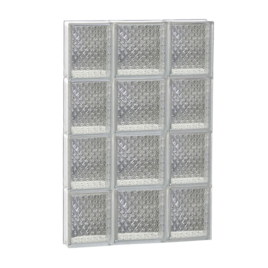 REDI2SET Diamond Glass Pattern Frameless Replacement Glass Block Window (Rough Opening: 20-in x 32-in; Actual: 19.25-in x 31-in)
