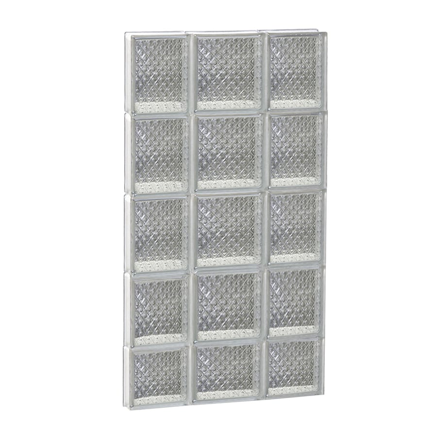 REDI2SET Diamond Glass Pattern Frameless Replacement Glass Block Window (Rough Opening: 20-in x 38-in; Actual: 19.25-in x 36.75-in)