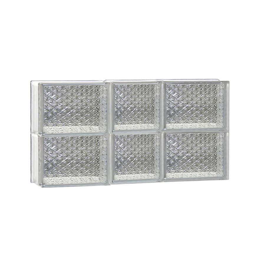 REDI2SET Diamond Glass Pattern Frameless Replacement Glass Block Window (Rough Opening: 22-in x 12-in; Actual: 21.25-in x 11.5-in)