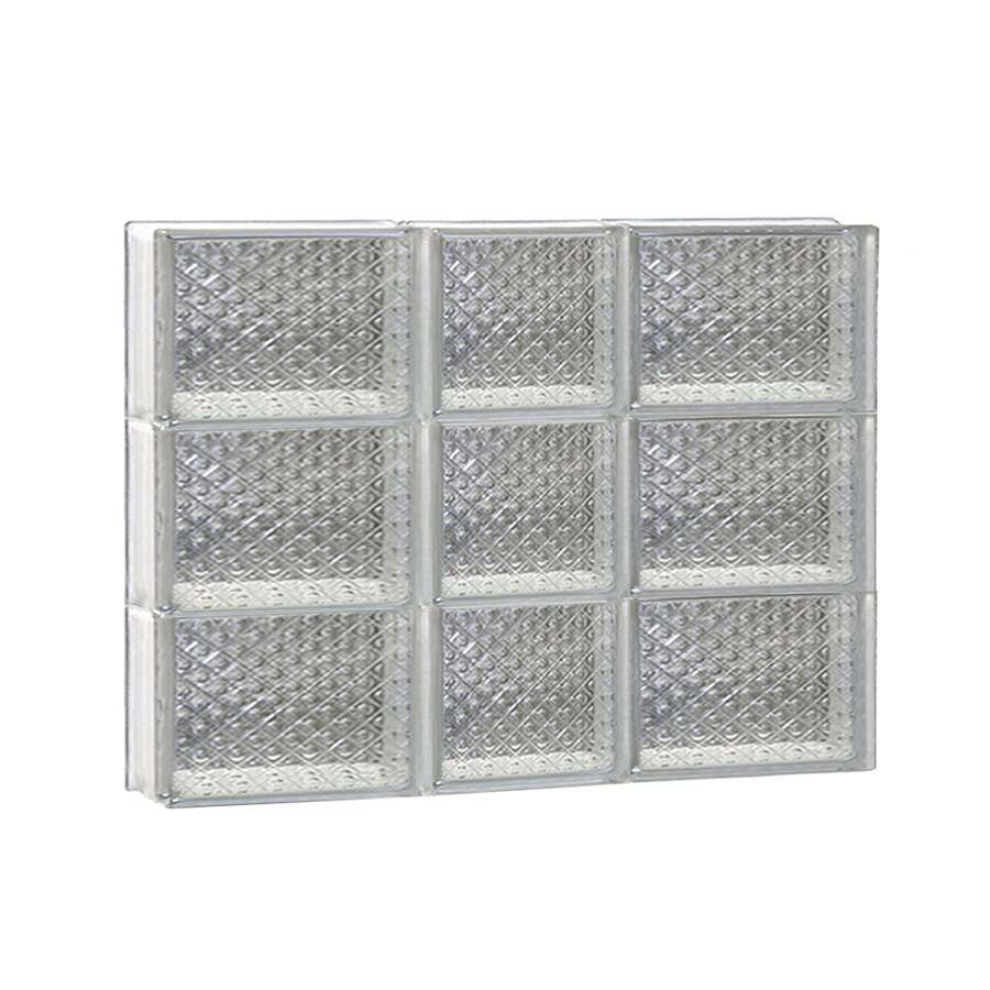 REDI2SET Diamond Glass Pattern Frameless Replacement Glass Block Window (Rough Opening: 22-in x 18-in; Actual: 21.25-in x 17.25-in)