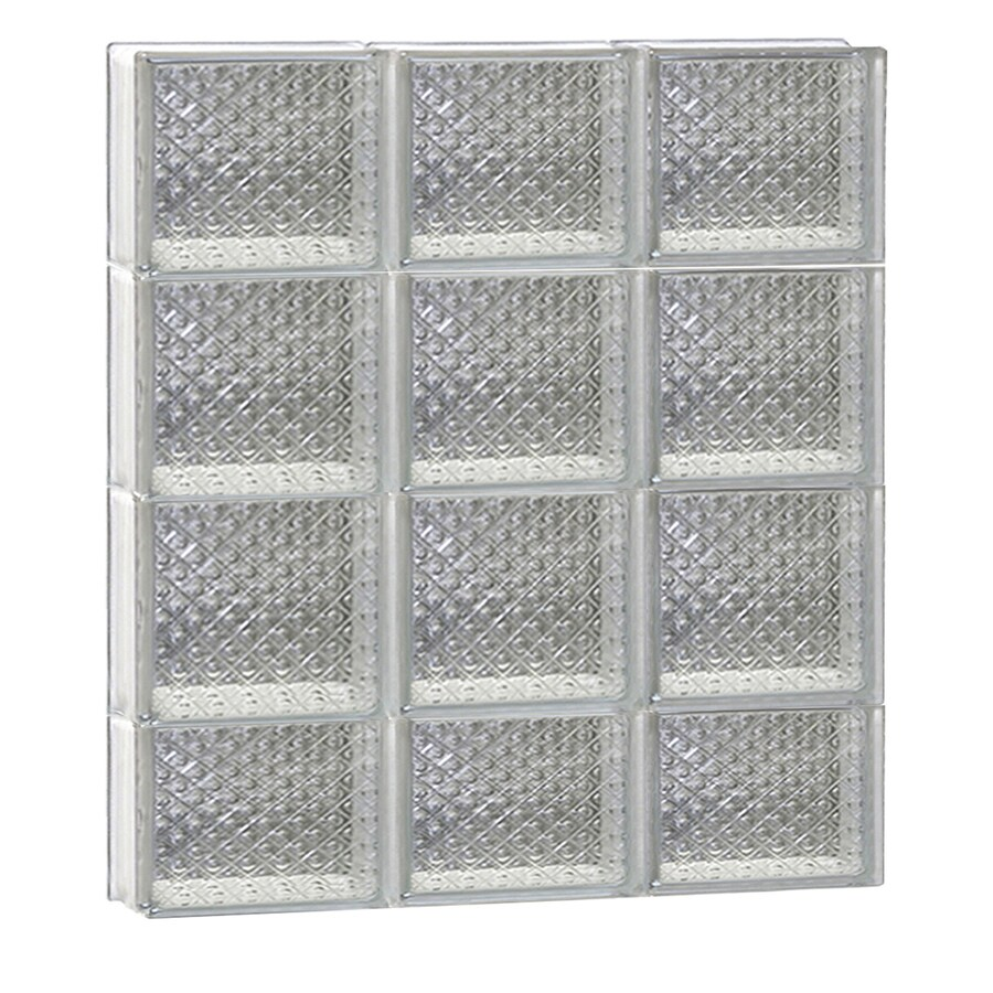 REDI2SET Diamond Glass Pattern Frameless Replacement Glass Block Window (Rough Opening: 24-in x 30-in; Actual: 23.25-in x 29-in)
