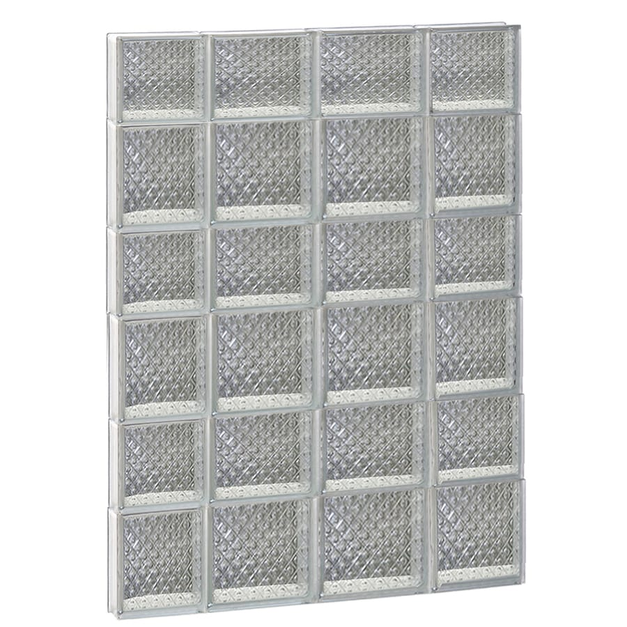 REDI2SET Diamond Glass Pattern Frameless Replacement Glass Block Window (Rough Opening: 28-in x 42-in; Actual: 27-in x 40.5-in)