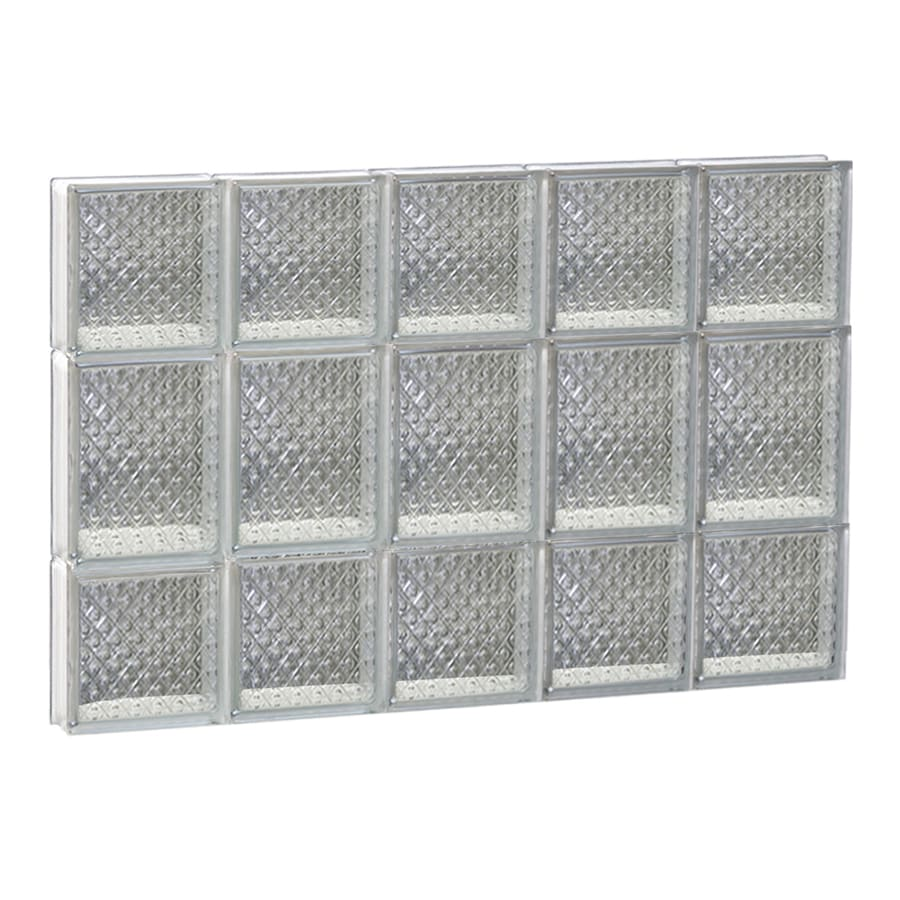 REDI2SET Diamond Glass Pattern Frameless Replacement Glass Block Window (Rough Opening: 30-in x 20-in; Actual: 28.75-in x 19.25-in)